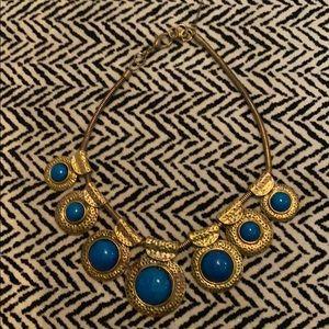 Amrita Singh Gold Blue Statement Necklace